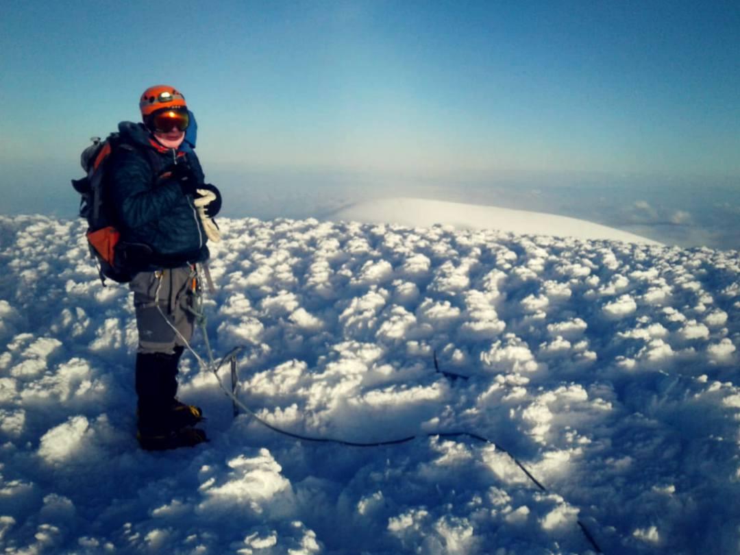 Brian Dagg on top of Chimborazo